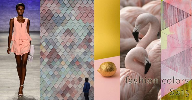 Spring/ #Summer2015 Fashion collour pink: Strawberry ice, flamingos.