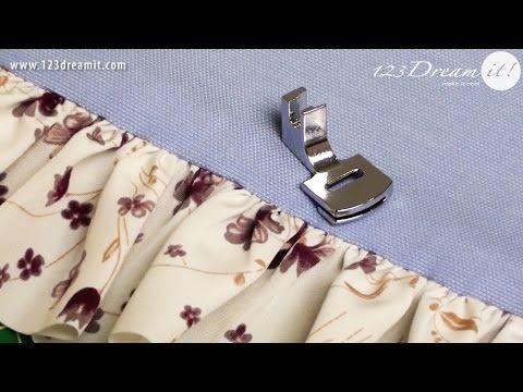 En este video les mostramos como funciona el pie fruncidor para máquinas de coser caseras. Es ideal para fruncir uno o dos tejidos ligeros juntos. Te permite hacer volantes, olanes y fruncidos siempre de forma uniforme. Aquí aprenderás como usarlo.