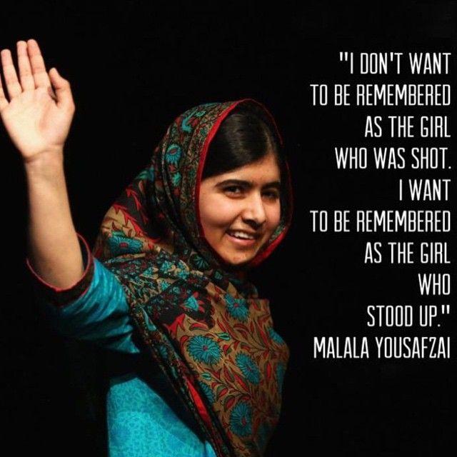 Malala Yousfazi, beyond inspirational.