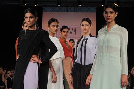Pranav Mishra & Shyma Shetty Collection at Lakme Fashion Week 2013 on Day 1
