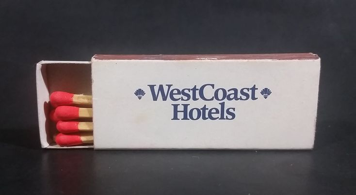 West Coast Hotels Wooden Matches Box Pack Travel Souvenir Promotional Collectible - Half full https://treasurevalleyantiques.com/products/west-coast-hotels-wooden-matches-box-pack-travel-souvenir-promotional-collectible-half-full #WestCoast #West #Coast #Hotels #Inns #Accommodations #Travel #Travelling #Tourism #MatchPacks #MatchBoxes #Matches #Promotional #Souvenir #Smoking #Collectibles