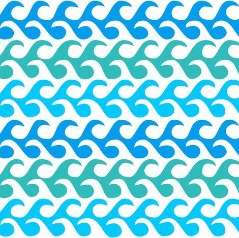 waves fabric by dennisthebadger on Spoonflower - custom fabric