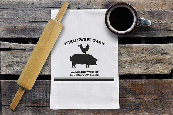Hey, I found this really awesome Etsy listing at https://www.etsy.com/ca/listing/548799648/farm-sweet-farm-kitchen-towel
