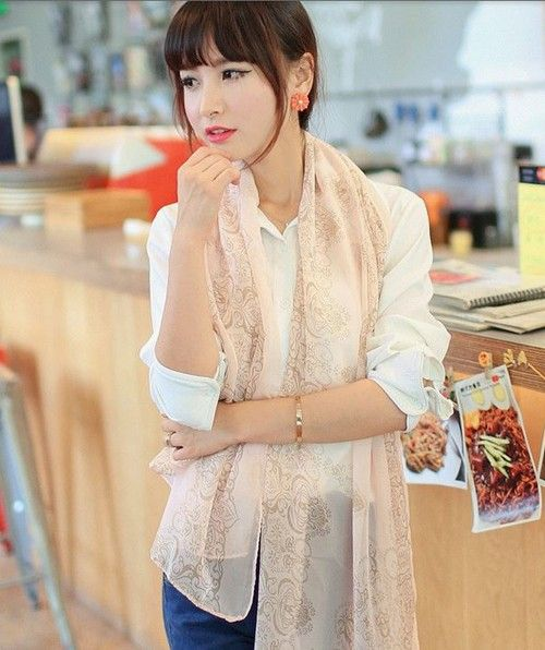 Écharpe moderne en soie fashion 2014