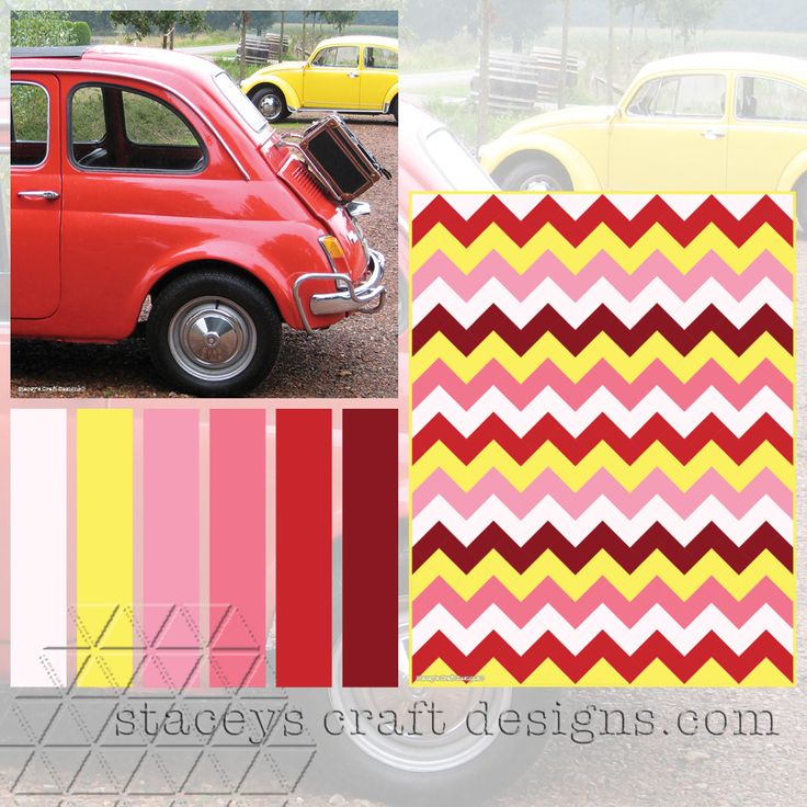 Colour Palette Fiat 500 by Stacey's Craft Designs