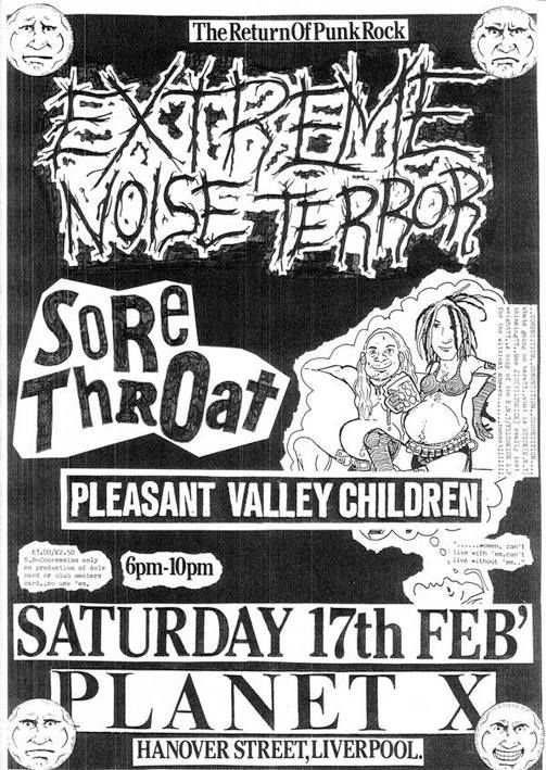 sore throat,extreme noise terror
