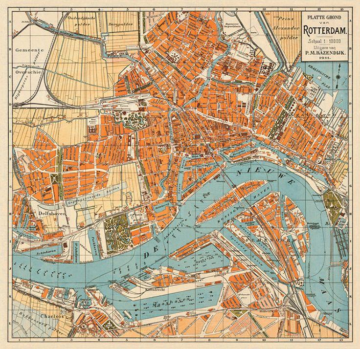 Rotterdam map, 1911
