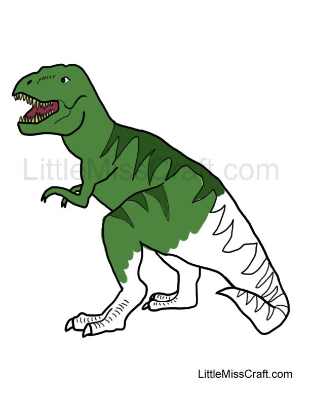 Tyrannosaurus Rex Coloring Page Perfect For A Dinosaur