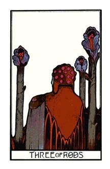 If the Three of Rods was the card drawn in first position of the Guidance Tarot Spread, then the message would be to take action based on intuition. The suit itself, representing our ambition and our motivation driving us, adds another layer pushing us to action. Reflect and identify what it is that you feel the action is (which may be unconventional, non-traditional, or not inline with what others are telling you) and have the confidence to pursue it. Click to read more.