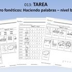 Tarea: Centro fonéticos: Haciendo palabras – nivel básico (42 pages)Homework Book: Matches Phonics Center Beginning LevelThis homework book has ...