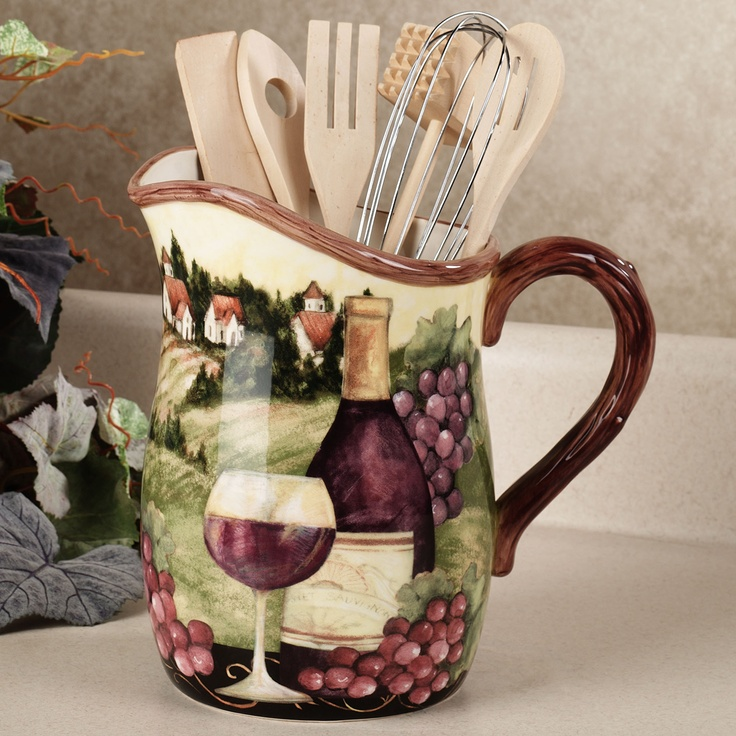 Grapes and Wine Home Decor & 87 best Grapes images on Pinterest | Kitchen ideas Kitchen decor ...