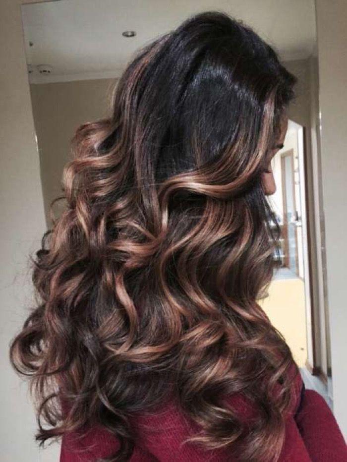 большое отличие брондирование волос фото на темные волосы каждый день