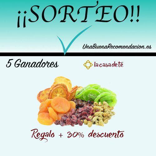 Sorteo 5 Vales 30% Descuento + Regalo Caja Frutas Deshidratadas
