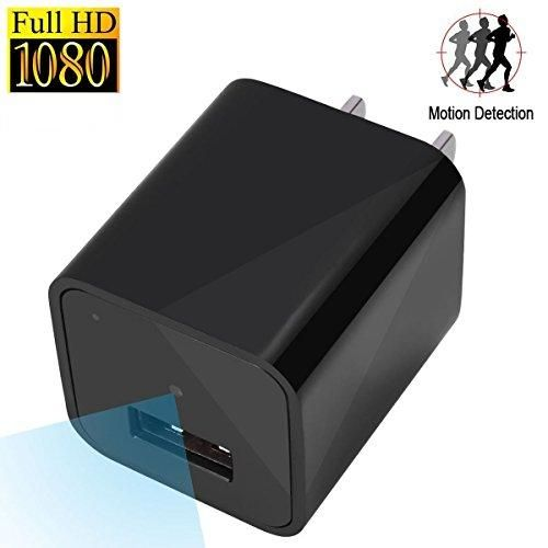 Motion Detection Hidden Camera,USB Wall Charger Camera,External Memory,Security