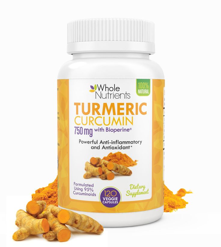 Turmeric Curcumin ★ Powder Capsules Herbal Supplement with Bioperine Black Pepper Extract Contains 95% Standardized Curcuminoids ★ 120 Vegetarian Pills with 750 mg ★ Natural Joint Pain Relief Antioxidant