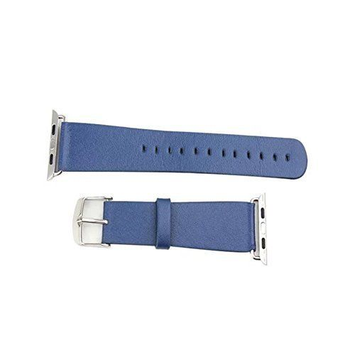 Apple Watch Band 42mm Leather Wristband iWatch Strap Band w Adaptor and Metal Clasp Dark Blue *** Check this out by going to the link at the image.