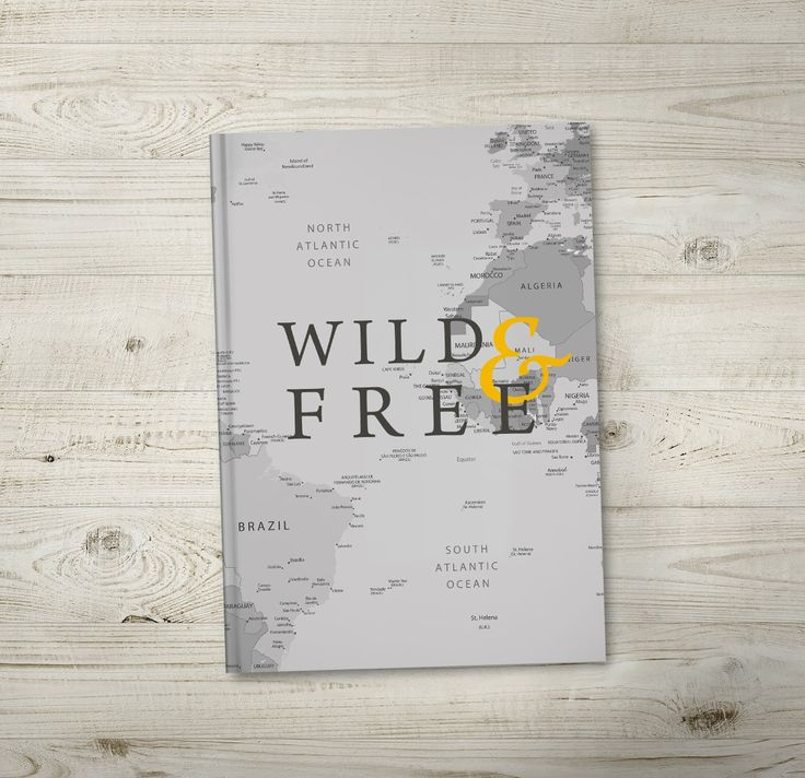 Wild & Free. A monochrome and yellow modern design travel journal. Order now from https://noordinaryemporium.com/shop/product/wild-free-travel-journals/