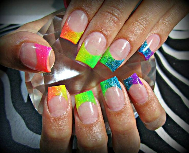 38 best Rainbow & Colorful Nails images on Pinterest | Nail ...