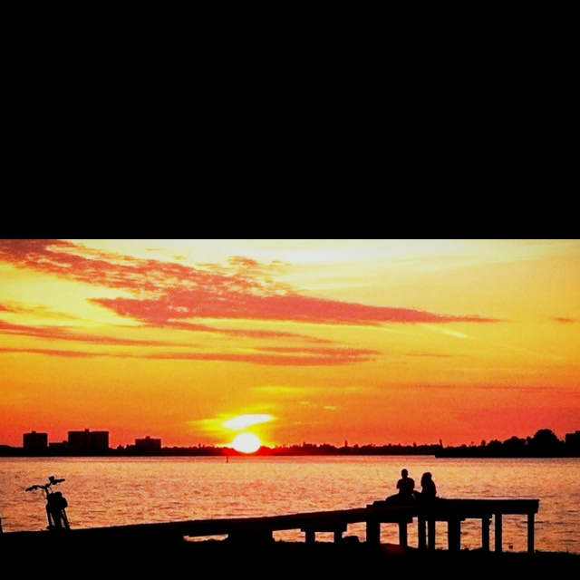 Nightly ritual in Dunedin Florida~ Where I was born and where I live now♥