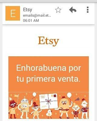 Mi primera venta en #Etsy #España gracias al #niñojesus y al amor hacia todo lo que me propongo. Marcando la intención mi trainer en el árbol de la vida #crp  Etsy es un mercado global, en línea, de productos hechos a mano, artículos vintage. Abre una tienda es gratis. Empieza a vender en Etsy con 40 anuncios gratuitos.http://etsy.me/2drGbPA