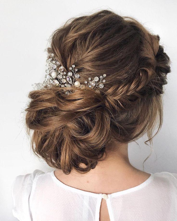 25 +> 75 Drop-Dead Schöne Hochzeitsfrisuren für eine romantische Hochzeit - Fabmood #fabmood #wedding #wedding Frisuren #romantic