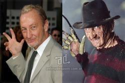 3. Robert Englund Robert Englund interpretó a Freddy Krueger en las 8 películas de Pesadilla en Elm Street.El personaje fue creado por Wes Craven y el maquillaje a cargo de David B. Miller y Kathryn Fenton.
