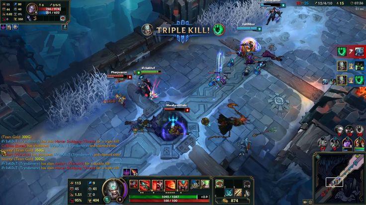League of Legends - 5v5 Aram - Trindamere Gameplay
