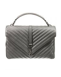 Saint laurent Borsa Ysl Bo Mng College L Ginger Fi in Gray (Grey) | Lyst