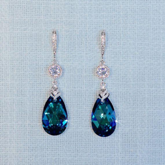 Handmade Swarovski Crystal Bermuda Blue by PrettybySusanJewelry