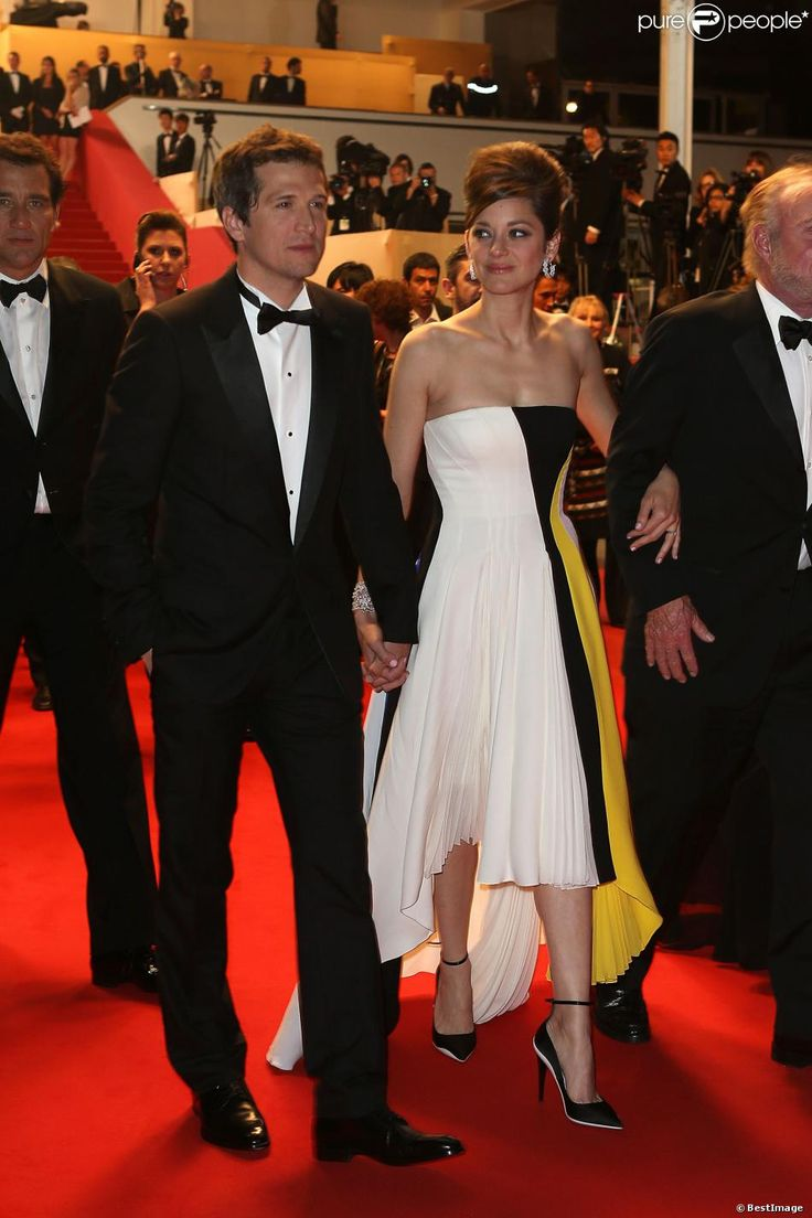 Marion Cotillard and her Husband Guillaume Canet (she tares at him so lovely and proudly ) Festival Cannes May 2013