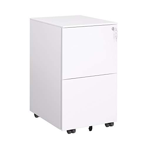 Devaise Locking File Cabinet 2 Drawer Rolling Metal Filing Cabinet Fully Assembled Except W Filing Cabinet Metal Filing Cabinet Mobile File Cabinet