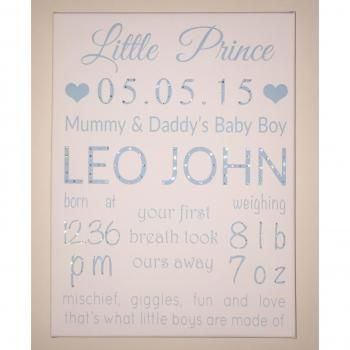 'Little Princess/Prince' Personalised Canvas 2