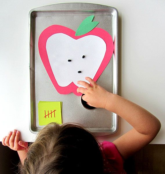 Apple Seed Math Game for Preschoolers