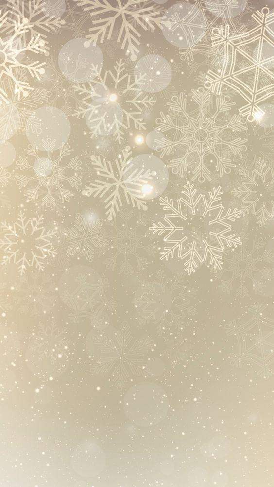 Gold snowflake iPhone wallpaper: