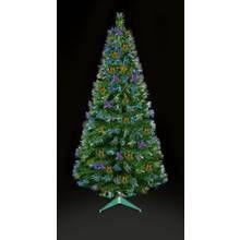 Premier Decorations 4ft Fibre Optic LED Burst Tree – Green