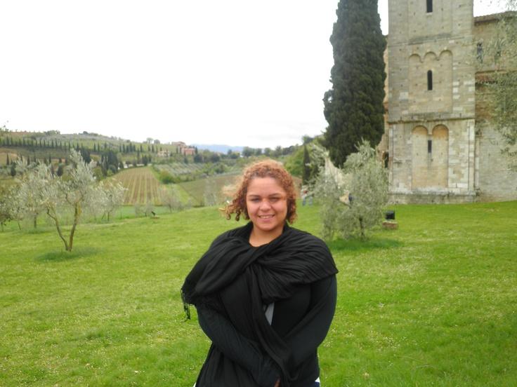 Visiting a monastery  Tuscany, Italy