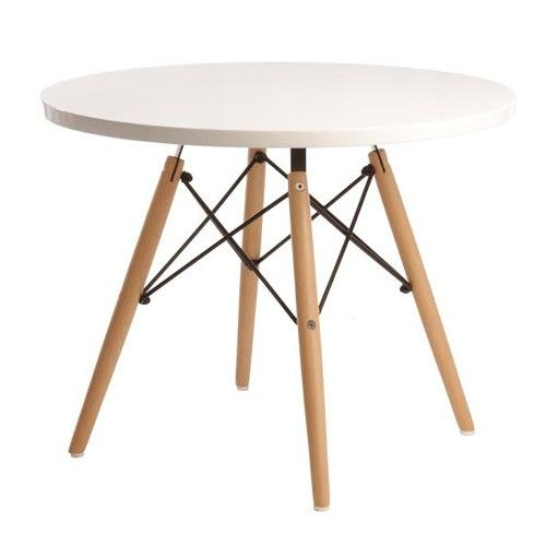 Junior DSW Dining Table - Eames Reproduction - White