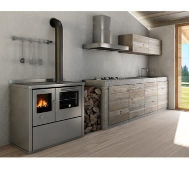 Wood burning traditional cooking range LINEA ECO de Manincor