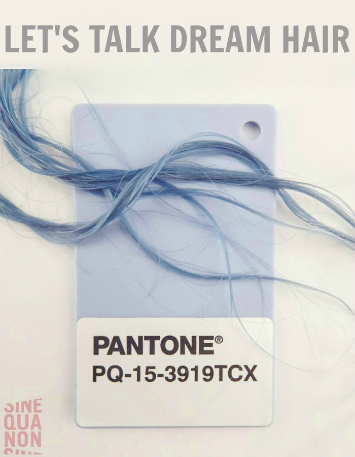 Pantone Color of the Year 2016 | Serenity | Let's Talk Dream Hair