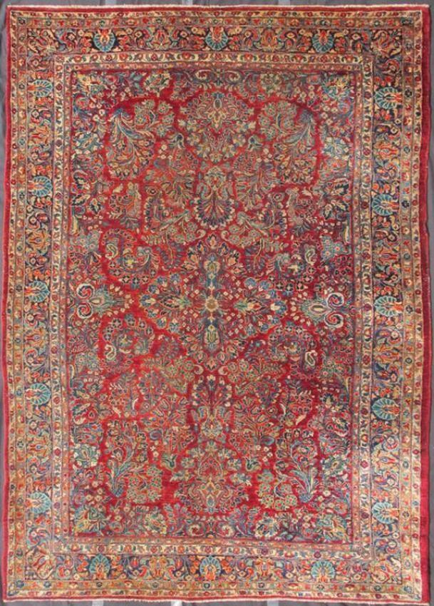 "KEIVAN WOVEN ARTS, Type : Sarouk Origin : Iran Size : 6'3""x8'9"" Circa : 1910"
