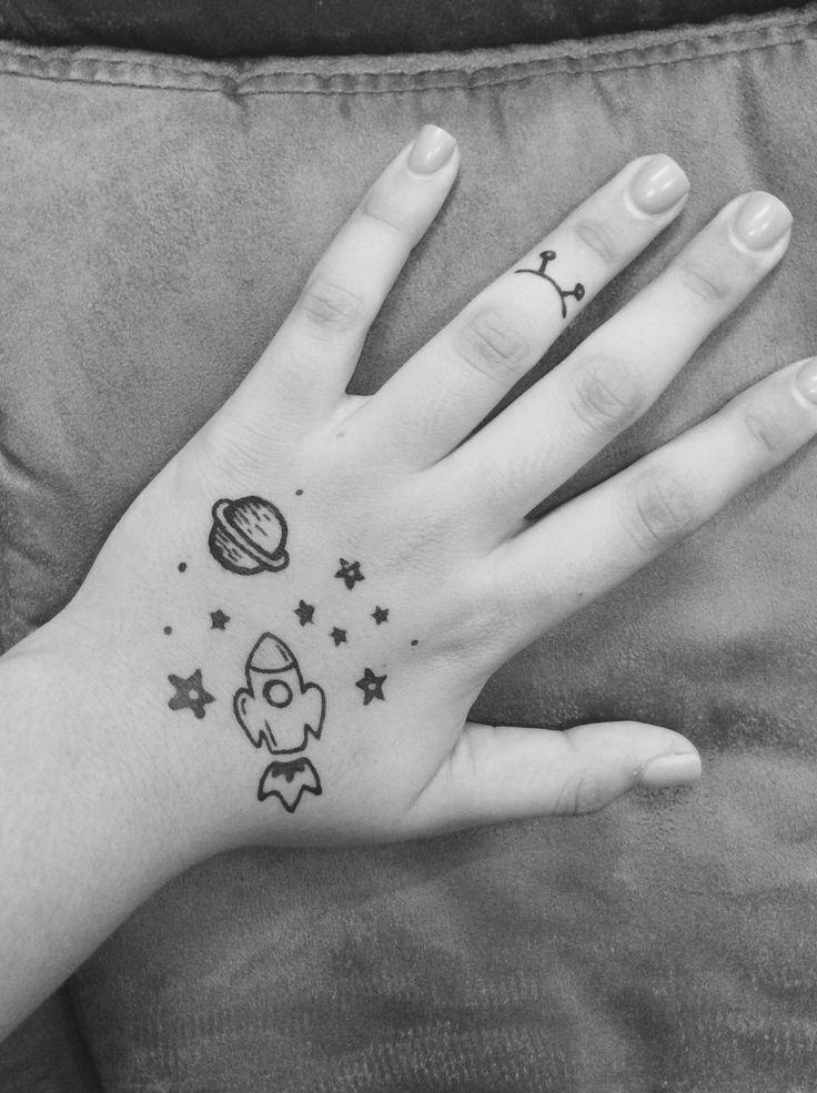Легкие картинки ручкой на руке