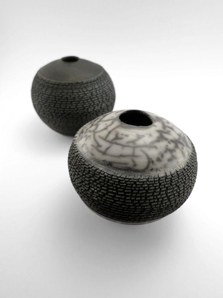 Darker than Black and Canal Craze: Whispering Globes - Ildikó Károlyi #ceramics #raku #design