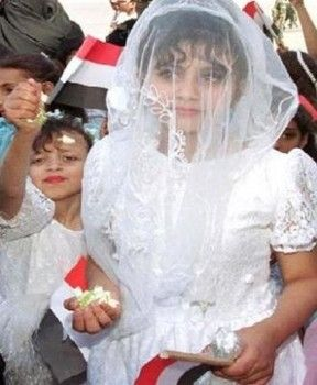 """An eight year old bride in Yemen died from internal injuries on her wedding night, bleeding to death after deep vaginal tearing caused by sex with her 40 year old husband. ... A February 2009 law set the minimum age for marriage at 17, but it was repealed after some conservative lawmakers called it un-Islamic."" ~There really are no words for how horrible this story really is..."