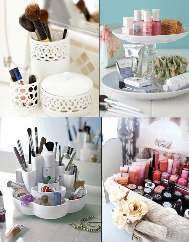 Ideas para organizar maquillaje, encuentra más opciones  en http://www.1001consejos.com/ideas-para-organizar-el-maquillaje/