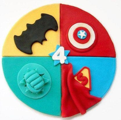 SuperHero Fondant Edible Cake Topper by SweetCakeByAnastasia