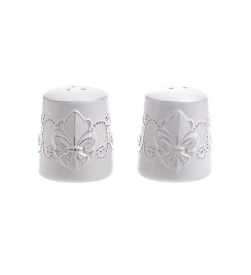 S_2 STONEWARE SALT AND PEPPER IN CREME COLOR 5_5X5_5X6