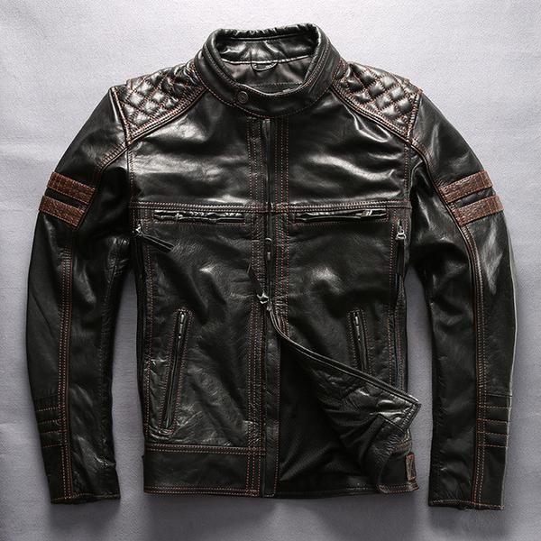 HARLEY Men's Motorcycle Jacket Cowhide Slim fit – PACESETTER FITNESS