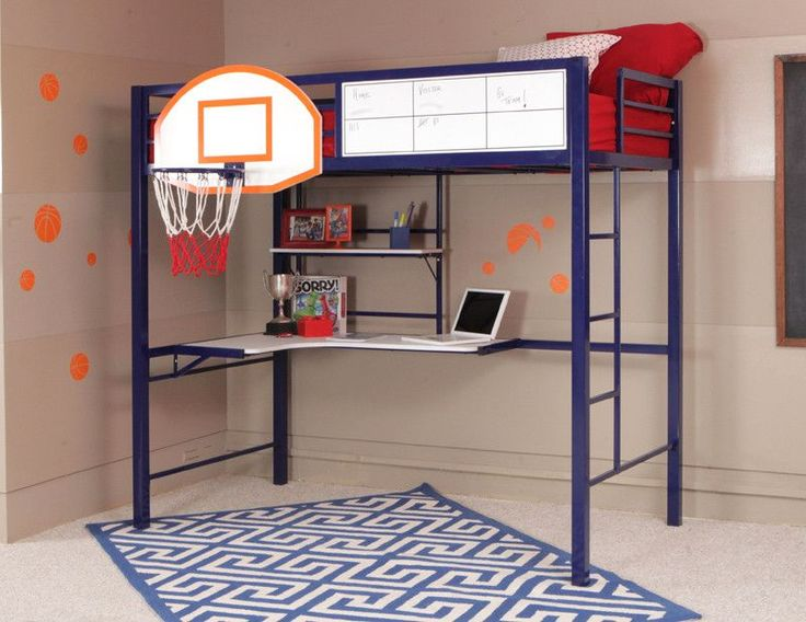 Buy Powell Hoops Basketball Bed Bunk Bed At Harvey U0026 Haley For Only 1,061.94