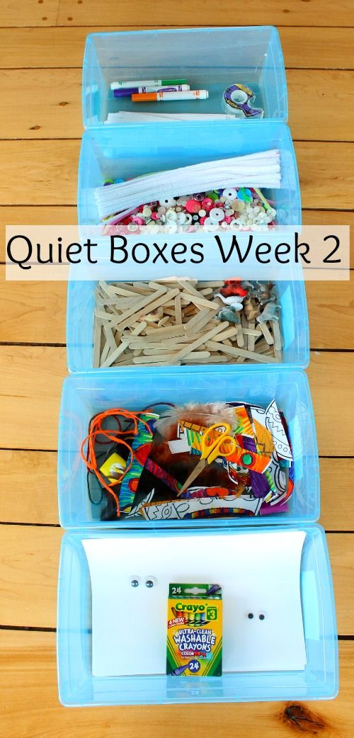 Another week of quiet box ideas for kids! Guaranteed to provide little ones with hours of independent and creative play.