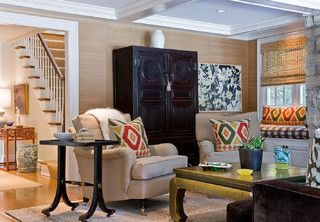 Katie Rosenfeld Interiors - contemporary - family room - boston - by Michael J. Lee Photography